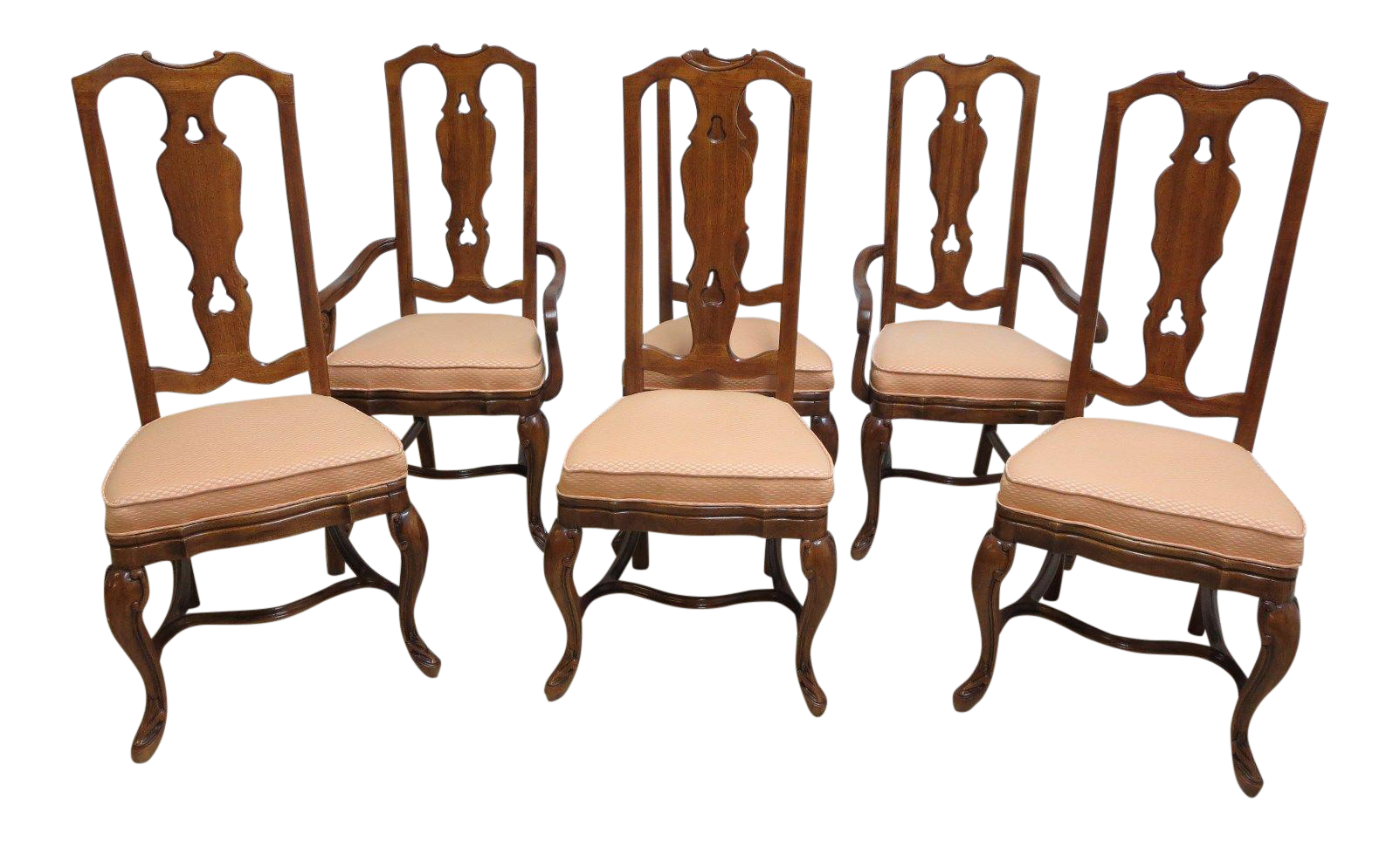 Drexel Heritage Old World Country French Carved Dining Arm Chairs   Set Of 4