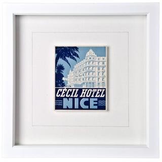Framed Vintage Cecil Hotel Luggage Label