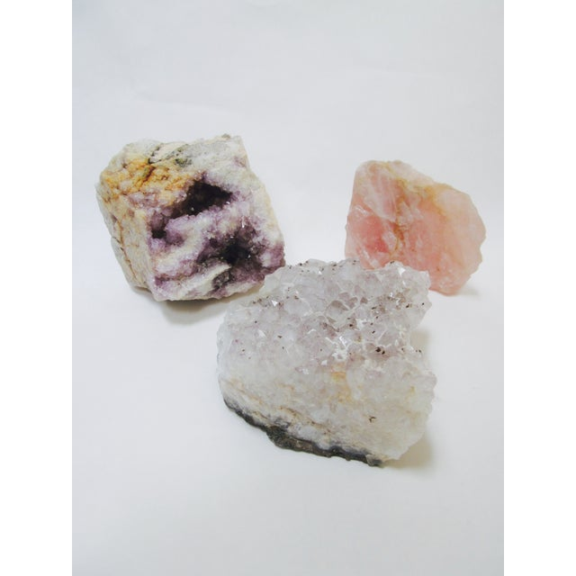Image of Vintage Geode Agate Quartz Stones - Set of 3