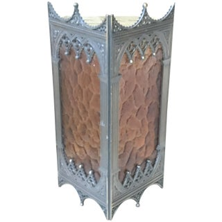 Gothic-Style Amber Moroccan Sconce Shade