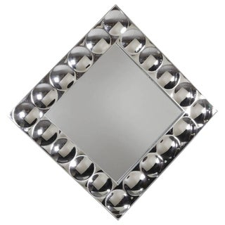 Silvered Acrylic Bubble Wall Mirror in the Manner of Verner Panton
