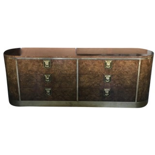 Mastercraft Burlwood & Brass Dresser