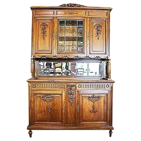 Image of Antique French Walnut Hutch