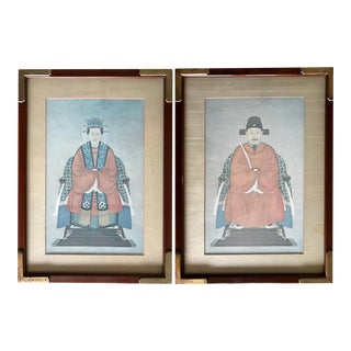 Vintage Ethan Allen Asian Prints - A Pair