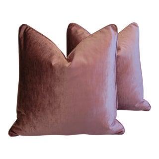 Scalamandre Grape Purple Velvet Pillows - A Pair