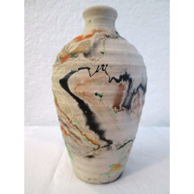 Nemadji Swirl Pottery Vessels - Pair - Image 5 of 11