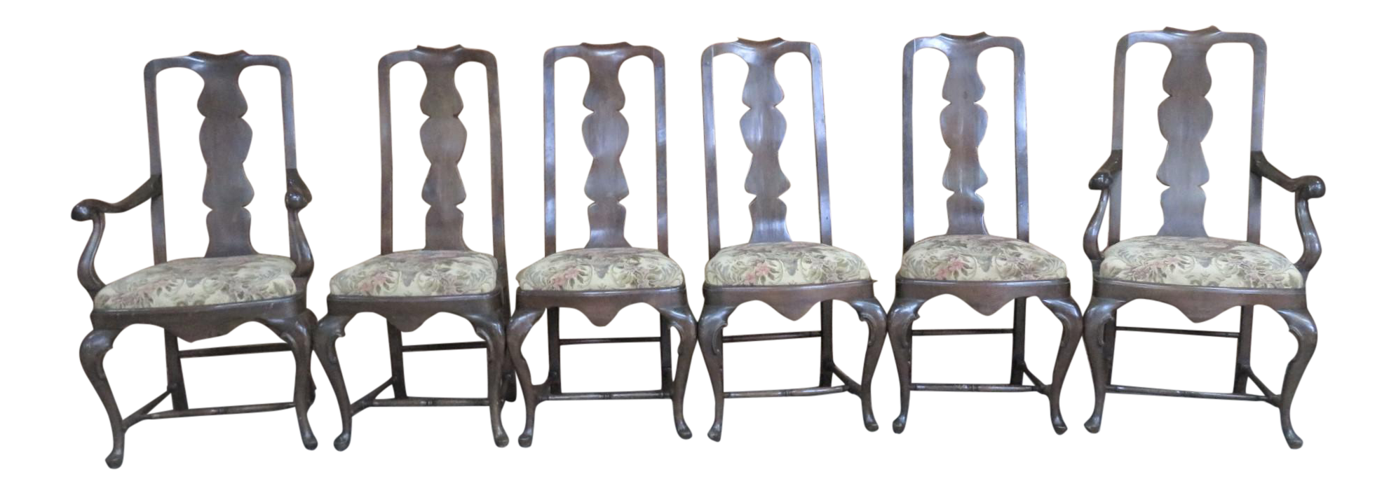 italian queen anne style dining chairs set of 6
