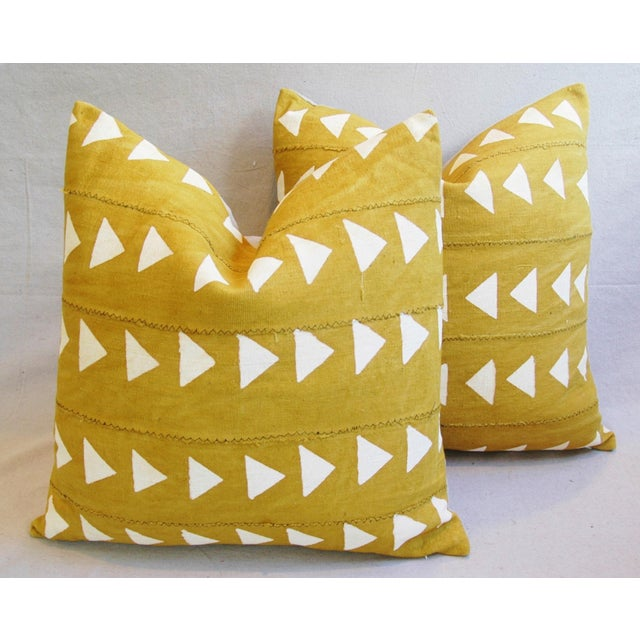 Boho Chic African Textile Pillows - A Pair - Image 6 of 10