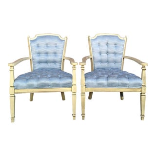 French Provincial Tufted Side Chairs - a Pair