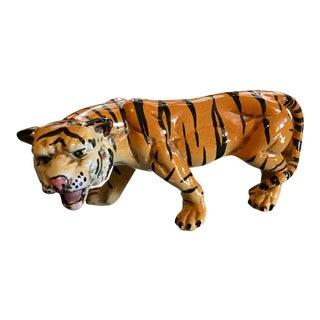 1970's Italian Terracotta Tiger
