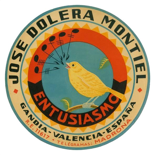 Image of Vintage Spanish Product Label Print
