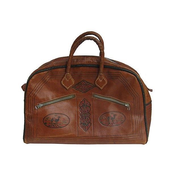 Vintage French Handcrafted Leather Satchel - Image 1 of 9