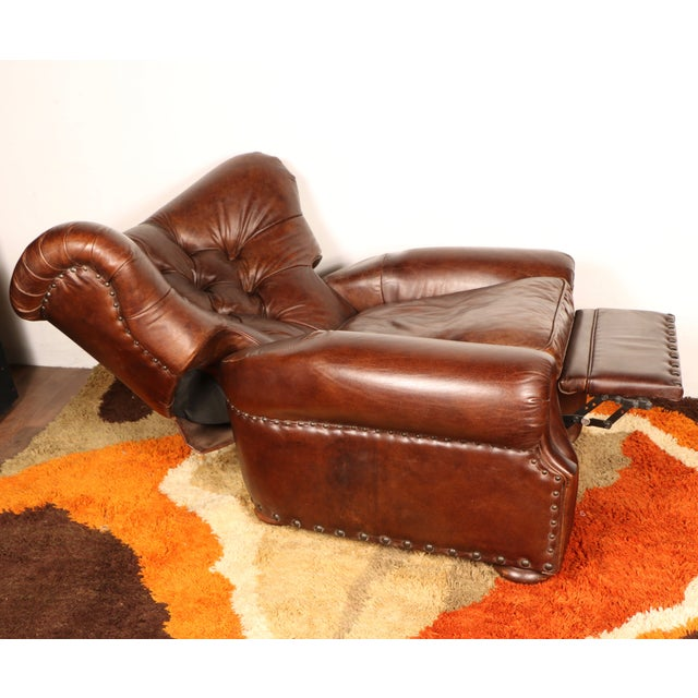 Churchill Leather Recliner By Restoration Hardware Chairish