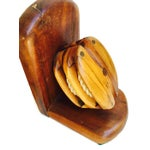 Image of Mid-Century Wood Pulley Bookends - Pair