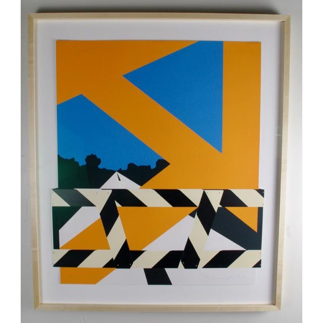 "Image of Allan d'Arcangelo ""Bridge Barrier"" Screenprint"