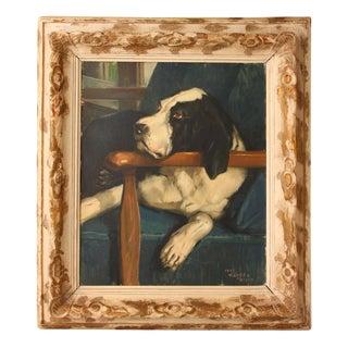 1948 Sleeping Dog Oil Painting on Canvas