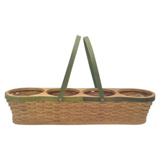 Handled Wicker Basket Planter