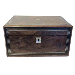 C. 1850 Burled Walnut Jewel Box