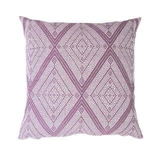 Handwoven Mauve Diamond Pillow
