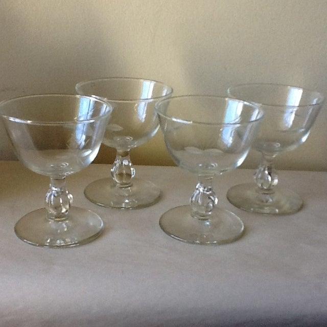 Vintage Cut Glass Wine Glasses - Set of 4 - Image 2 of 8