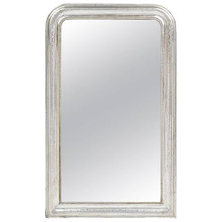 Antique Louis Philippe Period Silver Leaf Mirror