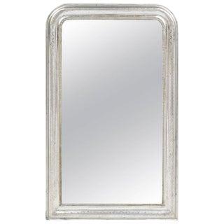 Antique Louis Philippe Period Silver Leaf Mirror