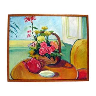 Oil On Canvas Painting -Tea & Sunshine