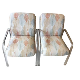 Leon Rosen Pace Collection Bent Lucite Armchairs - a Pair
