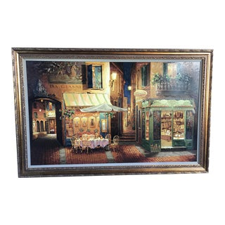 "Extra Large 41""x63"" Viktor Shvaiko ""Evening in Verona"" Signed Numbered Serigraph"