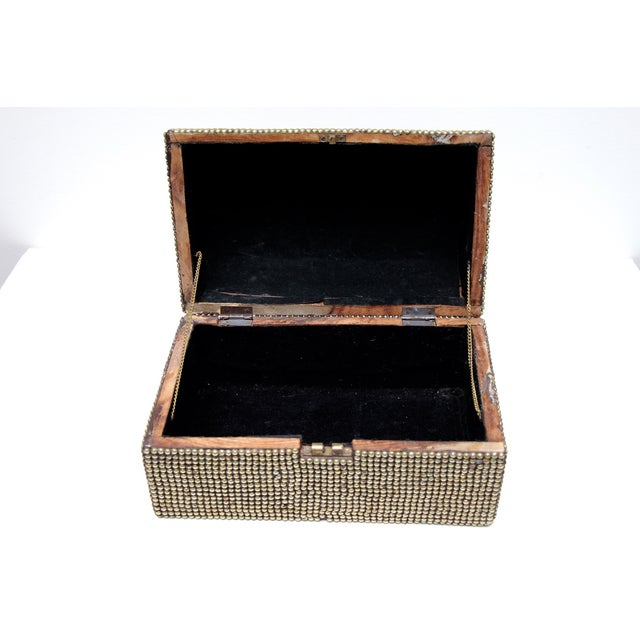 Image of Brass Studded Tabletop Trunk