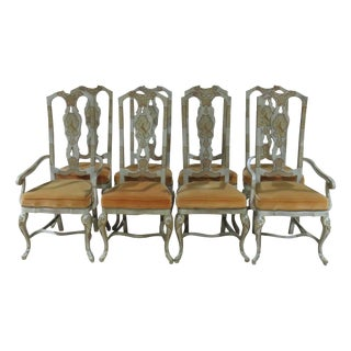 Drexel Heritage Paint Decorated Dining Chairs - Set of 8