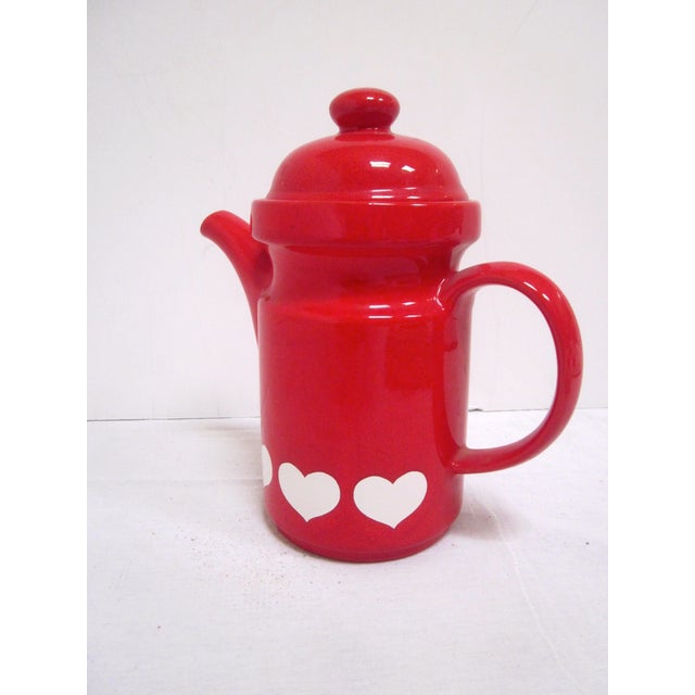 Waechtersbach German Red Heart Teapot - Image 6 of 7