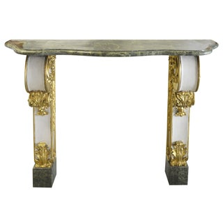 French Fragment Marble Top Console