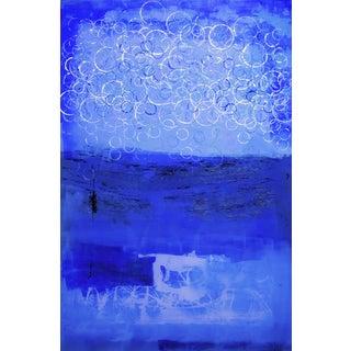 Blue Abstract Circles Print