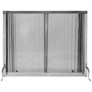 1970s Chrome Fireplace Screen
