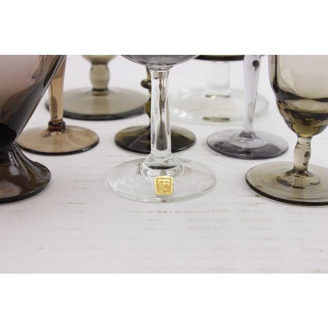 Smokey Gray & Brown Stemware - Set of 8 - Image 4 of 5