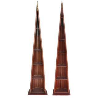 Scull Boat Bookcases- a Pair