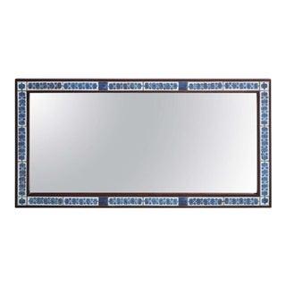 Beautiful Danish Rosewood and Tiled Mirror