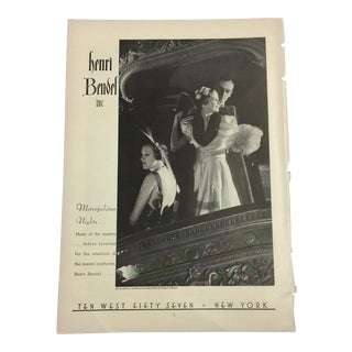 Henri Bendel Print Ad, 1935