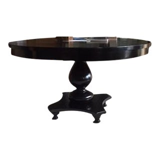 Ebonized Pedestal Dining Table