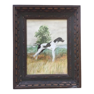 Original Pointer Dog Signed Watercolor Painting