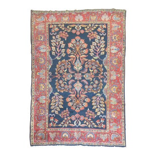 Early 20th Century Navy Blue Persian Rug, 6'9'' x 9'6''