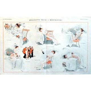 """René Préjelan 1913 """"Beguinette Soupe A Montmartre"""" Print"""
