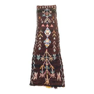 """Vintage Moroccan Boujad Rug - 2'7"""" x 10'2"""""""