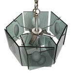 Image of 1960s Italian Smoked Glass Two Tier Chandelier