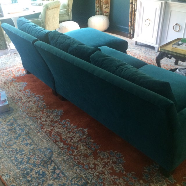 Teal Sofa with Chaise from Quatrine - Image 5 of 7