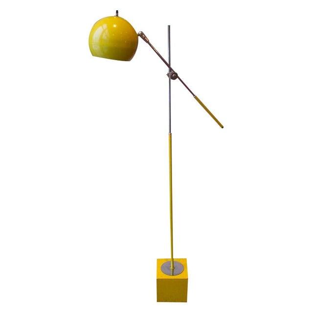 George Kovacs Bright Yellow & Chrome Floor Lamp - Image 1 of 5