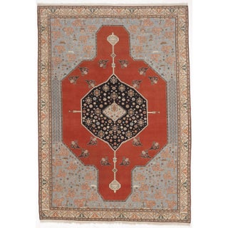 "Hand-Knotted Turkish Serapi Rug - 8'7""x 12'"