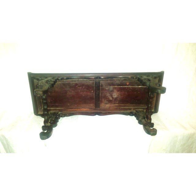 Small Antique Chinese Lacquered Wooden Altar Bench - Image 9 of 11