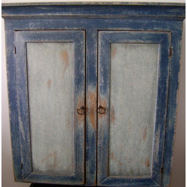 Antique Handmade Pine Hanging Cabinet - Image 3 of 9